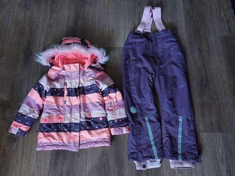 CoolClub Smyk Kurtka zimowa spodnie narciarskie komplet roz 116
