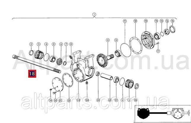 Вал фланцевий лівий редуктора ротора claas lexion 580-480 669606.0