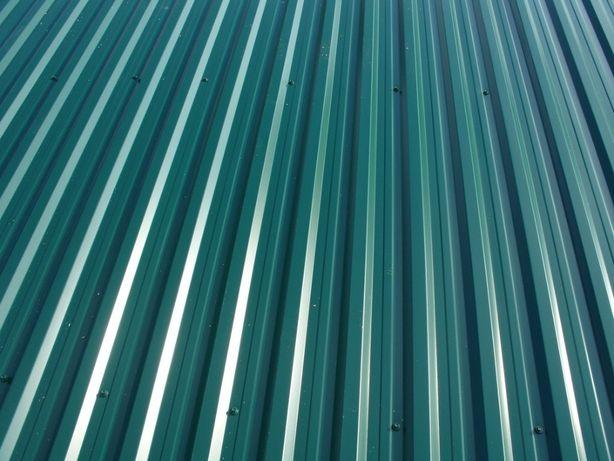 Blacha trapezowa st 18 zielona dach wiata garaż