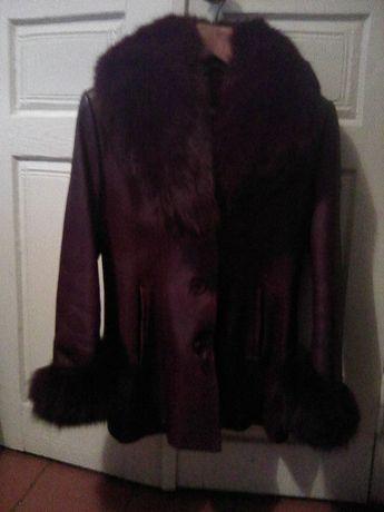 Женская кожаная куртка с натуральным мехом!