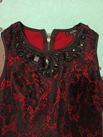 Платье красное S
