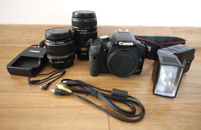 Lustrzanka Canon EOS 500D obiektyw 18-55 IS + 55-250mm f/4-5.6 IS