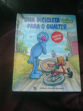 livro Uma bicicleta para o Gualter rua sesamo