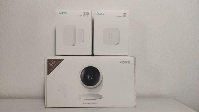 Aqara sensor vibração e camera gateway