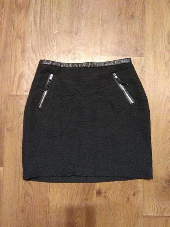 Женская черная юбка H&M, р.S(10)