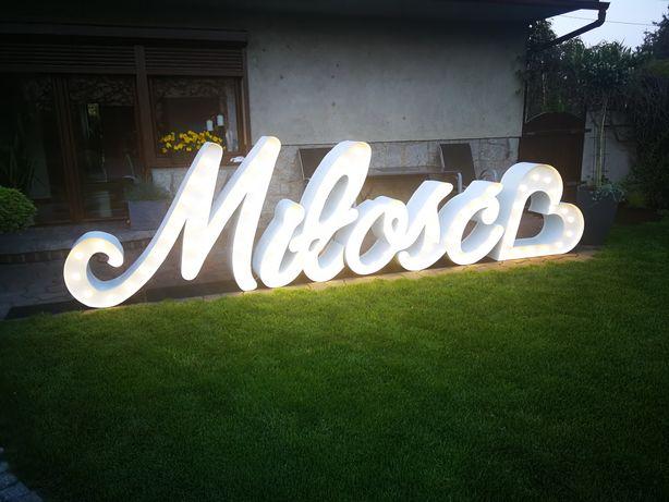 Napis miłość LED, love, ślub, wesele, sesja
