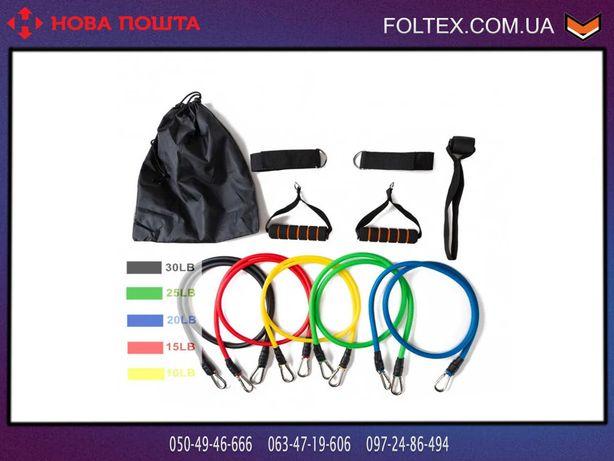 Набор эспандеров для фитнеса 5 жгутов Power Resistance Bands в чехле