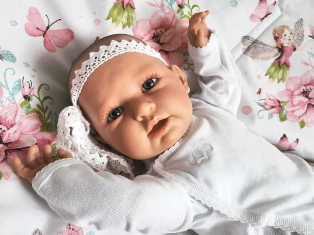 Hiszpańska lalka bobas typ reborn 53cm + wyprawka NOWA