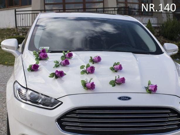 Dekoracja na samochód-ozdoba-przybranie auta-stroik.Duże pąki róż.