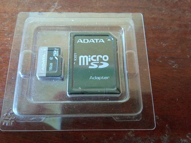 Карта памяти Мicro SD 16 Gb + адаптер Новая