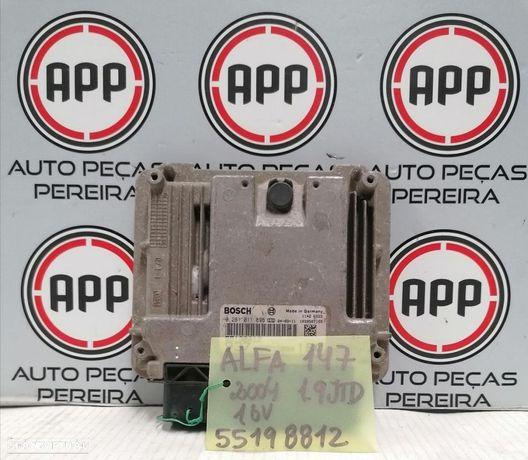 Centralina Alfa Romeu 147, GT 1.9 MJET 16V, referência,  55198812, 55198809, 55200672, 51806561.