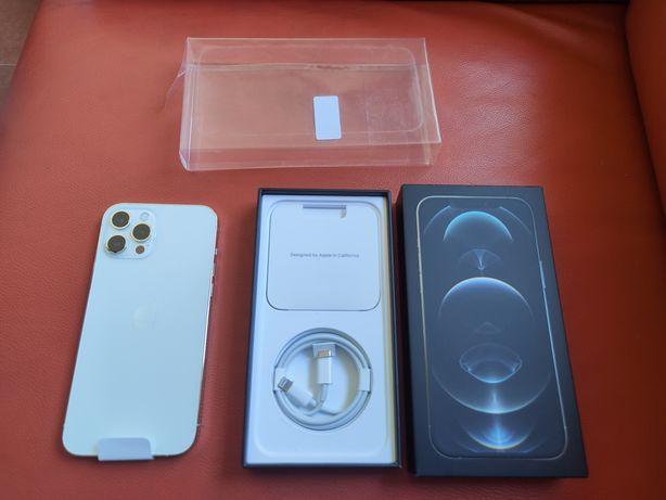Troco/Vendo iPhone 12 Pro Max 256gb branco novo com caixa e garantia!