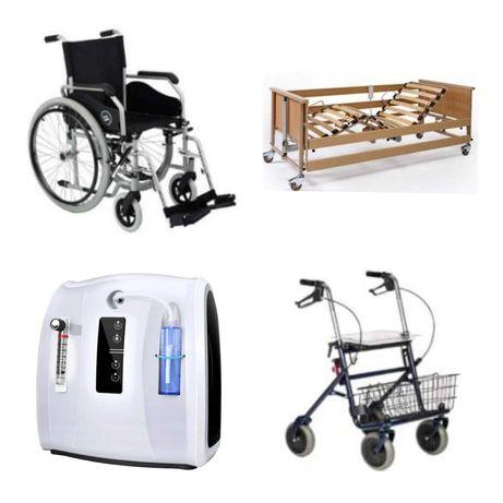Wypożyczalnia łóżko rehabilitacyjne, koncentrator tlenu, chodzik