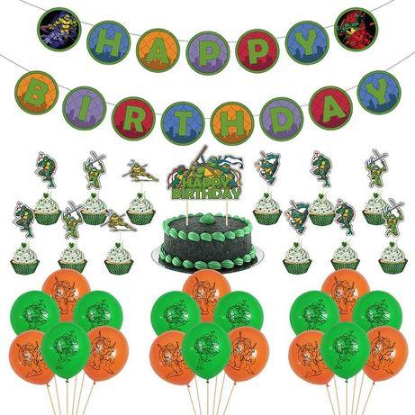Kit decoração festa aniversário Tartarugas Ninjas - portes grátis