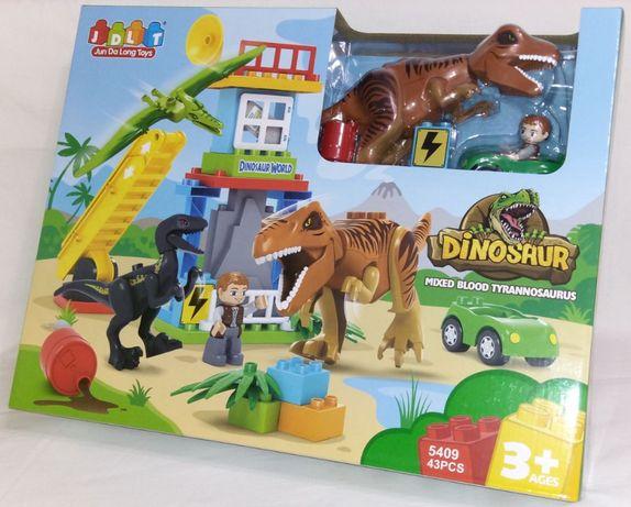 """Конструктор JDLT 5409 """"Динозавры"""", 43 дет. Лего-дупло."""