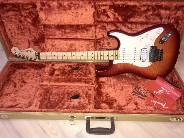 Fender Standard Strat Plus Top Floyd Rose, Aged Cherry 2017 Jak Nowa