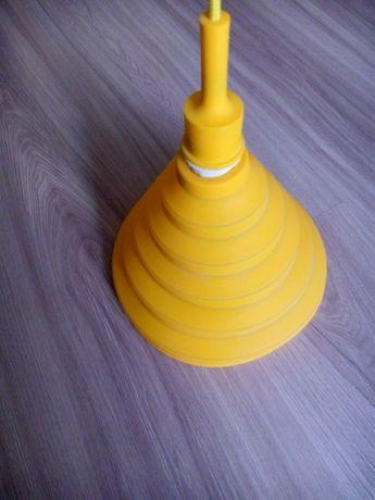 silikonowy klosz żyrandol dla dzieci żółty