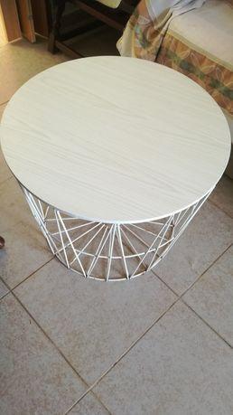 Mesa-cesto branco