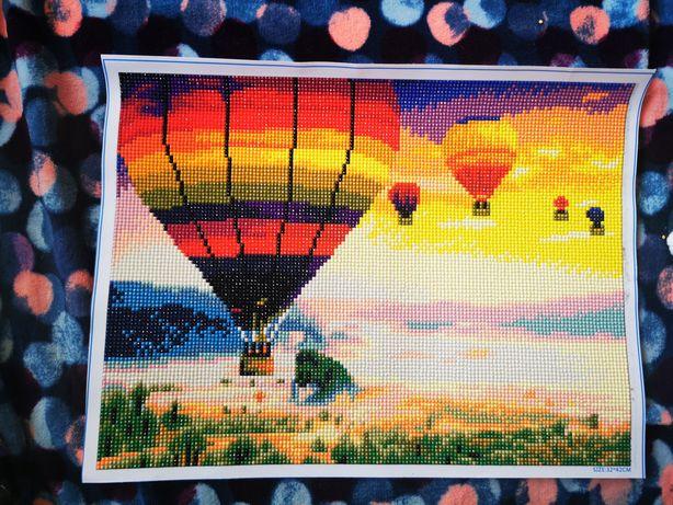 Obraz haft diamentowy balony