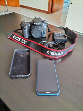 Corpo Canon EOS 70D + Huawei P20 Lite