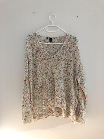Cienki, cieniutki sweter, sweterek H&M 34