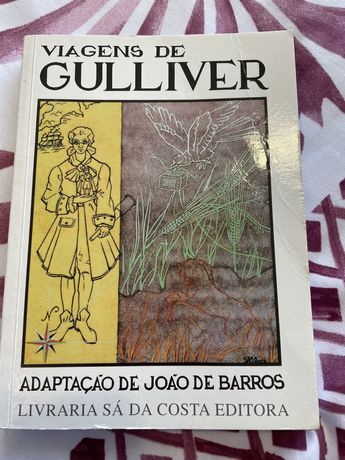 """Livro """" Viagens de Gulliver"""" Adaptaçao de João de Barros"""