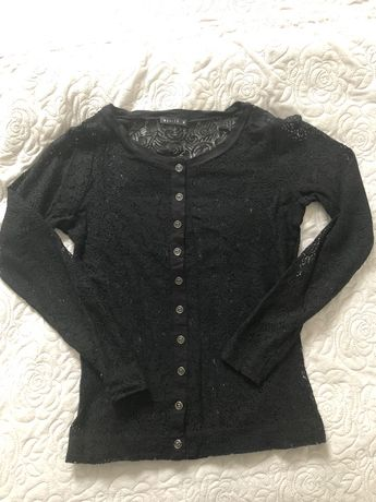 Bluzka koronkowa MOHITO czarna rozmiar M