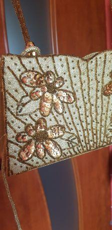 Złota torebka-wesele,sylwester