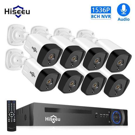 KIT Vigilância POE 8 Cameras 5MP • IP67 Exterior •  Visão Noturna