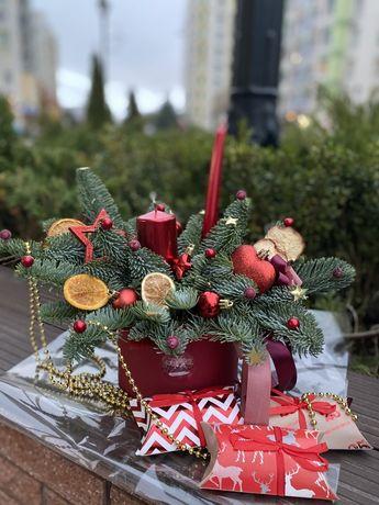 Новогодняя композиция декор нобилис