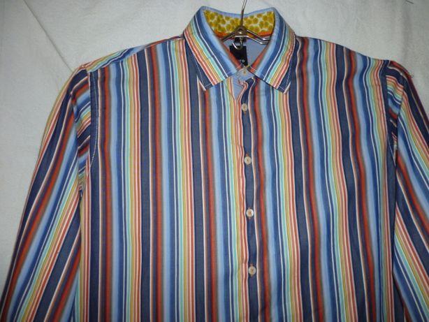 Мужская рубашка с длинными рукавами. р 60, катон 100%,Болгария
