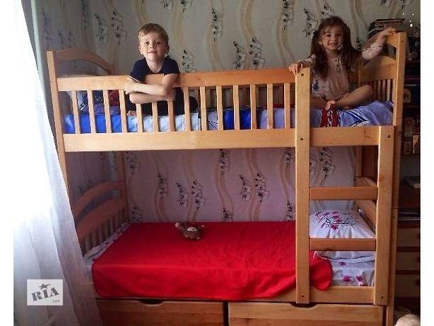 Кровать Карина двухъярусная с ящиками