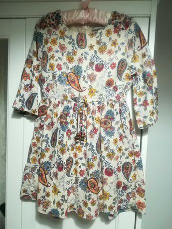 Sukienka dziewczęca 110cm 5 lat jesienna