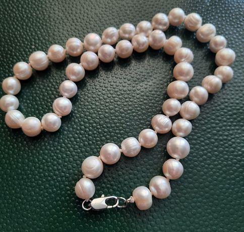 Бусы ожерелье пресноводный жемчуг чёрный и белый