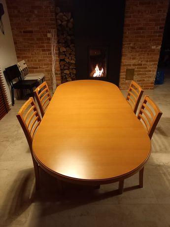 Stół bukowy plus 4 krzesła