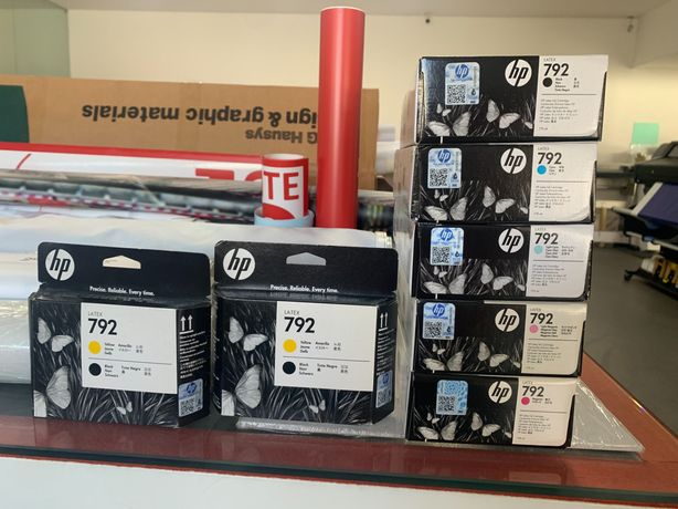 Tintas e cabeçotes HP Latex 792