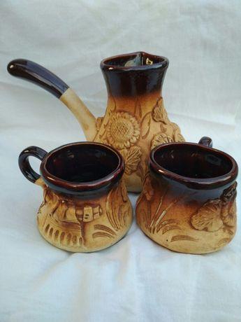 Набор турка и 2 чашки