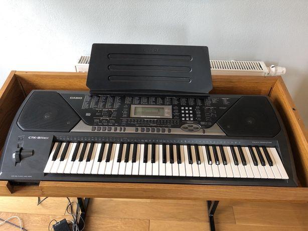 Keyboard Casio Ctk 811 ex + drewniany stojak organy