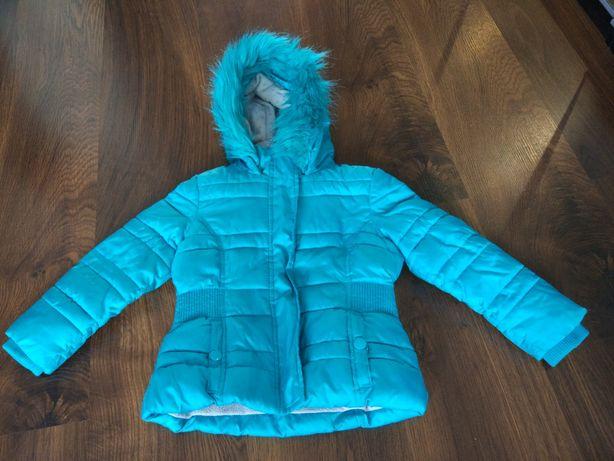 Ciepła kurtka z kapturem rozmiar 92