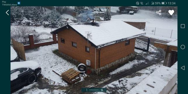 Domek całoroczny drewniany na działkę/ budowę/ z wyposażeniem