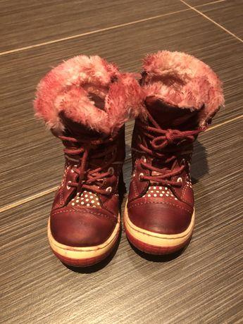 Buty dziewczęce zimowe ocieplane Lasocki roz 24 wkł .15 cm