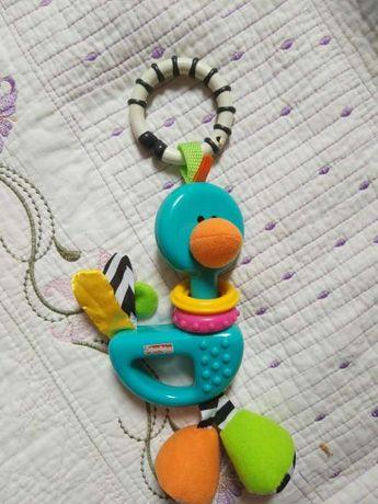 Fisher Price развивающая игрушка подвеска Страус