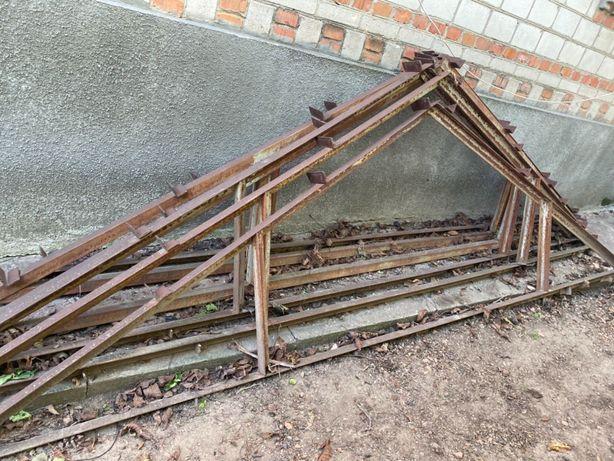 Ангар каркас 6x4, висота 4 метри