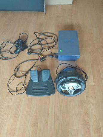 PS2 + Kierownica ferrari + pad