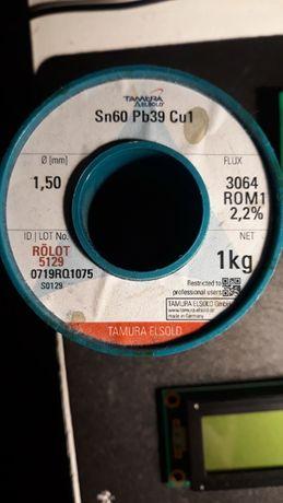 Припой TAMURA ELSOLD Sn60 Pb39 Cu1 с флюсом 2,2% - 1,5 мм.
