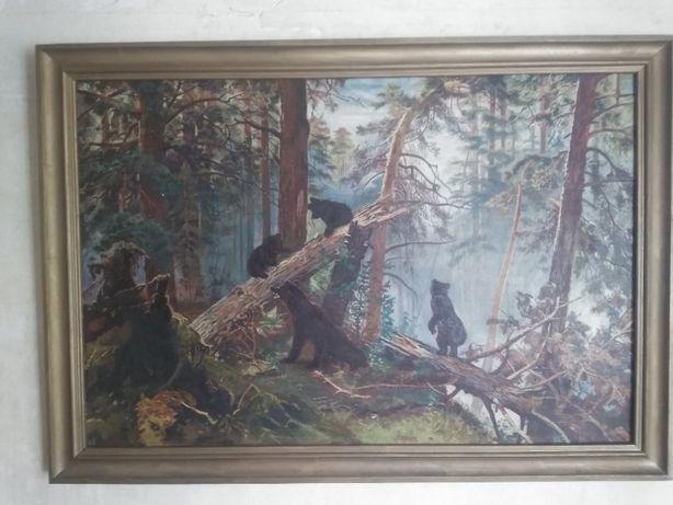 Картина И. И. Шишкина Утро в сосновом бору