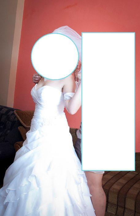 Suknia ślubna biała r.40/42 Sędziszów - image 1