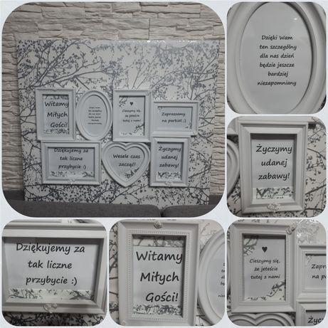 Tablica powitalna na salę weselną