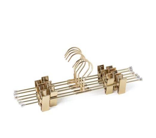 Cabides dourados - Pack de 6 unidades