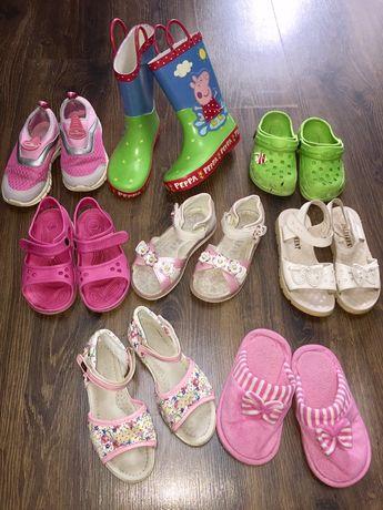 Летняя обувь, босоножки, крокси, резиновые сапоги, кеды, тапочки